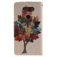 Obrázkové koženkové puzdro pre LG G5 - farebný strom - 2/7