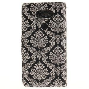 Obrázkové koženkové pouzdro na LG G5 - retro tapeta - 2