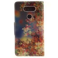 Obrázkové koženkové puzdro pre LG G5 - maľované listí - 2/7