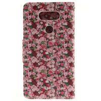 Obrázkové koženkové pouzdro na LG G5 - růže - 2/7