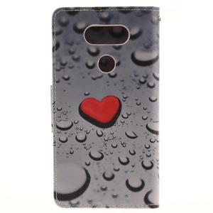 Obrázkové koženkové pouzdro na LG G5 - srdce - 2