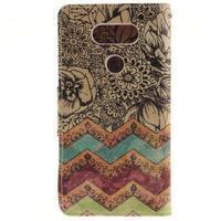 Obrázkové koženkové puzdro pre LG G5 - maľované kvetiny - 2/7