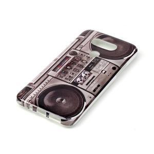 Gélový obal pre mobil LG G5 - retro radio - 2