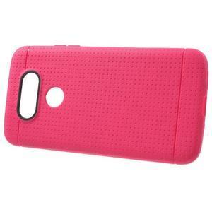 Rubby gélový kryt pre LG G5 - rose - 2