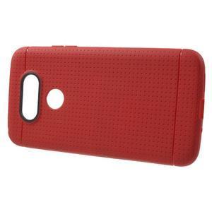 Rubby gélový kryt pre LG G5 - červený - 2