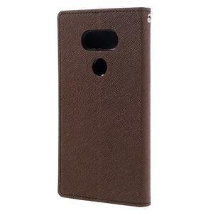 Goos stylové PU kožené pouzdro na LG G5 - hnědé - 2