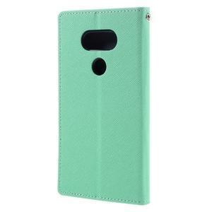 Goos stylové PU kožené pouzdro na LG G5 - cyan - 2