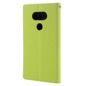 Goos stylové PU kožené puzdro pre LG G5 - zelené - 2