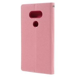 Goos stylové PU kožené puzdro pre LG G5 - ružové - 2