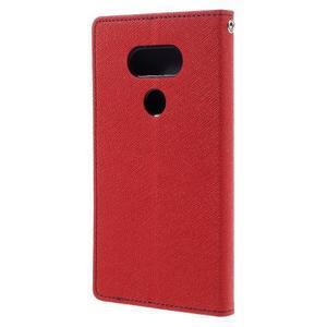 Goos stylové PU kožené puzdro pre LG G5 - červené - 2
