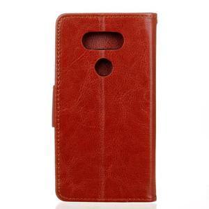 Lees peňaženkové puzdro pre LG G5 - hnedé - 2