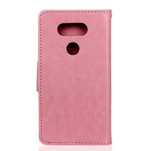 Lees peňaženkové puzdro pre LG G5 - ružové - 2