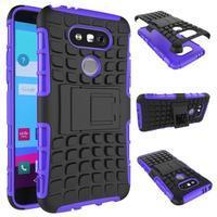 Outdoor odolný obal pre mobil LG G5 - fialový - 2/2