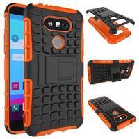 Outdoor odolný obal na mobil LG G5 - oranžový - 2/2