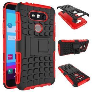 Outdoor odolný obal pre mobil LG G5 - červený - 2