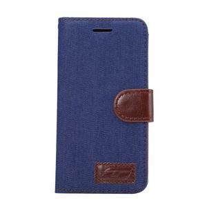 Jeans peněženkové pouzdro na LG G5 - tmavěmodré - 2