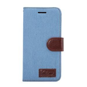 Jeans peňaženkové puzdro pre LG G5 - svetlomodré - 2