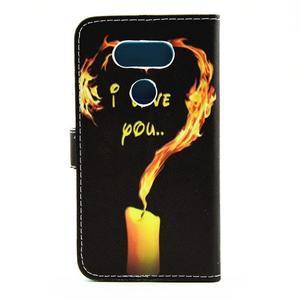 puzdro pre mobil LG G5 - ohnivá láska - 2