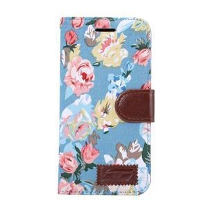 Květinové pouzdro na mobil LG G5 - modrý vzor - 2