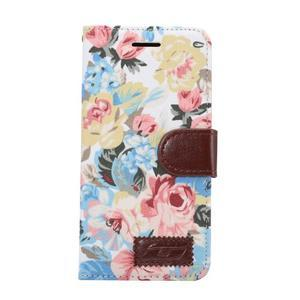 Kvetinové puzdro pre mobil LG G5 - biely vzor - 2