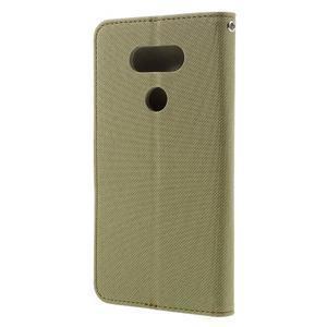 Diary PU kožené pouzdro na mobil LG G5 - khaki - 2