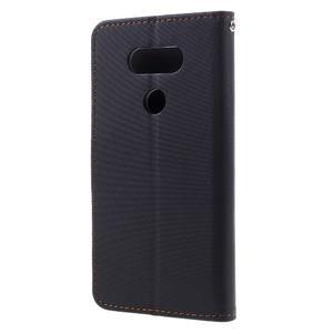 Diary PU kožené puzdro pre mobil LG G5 - čierne - 2