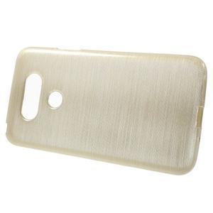 Hladký gelový obal s broušeným vzorem na LG G5 - champagne - 2