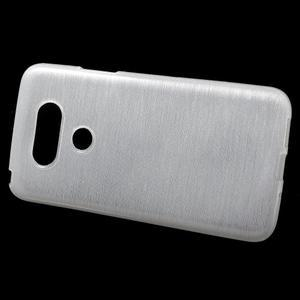 Hladký gélový obal s brúseným vzorem na LG G5 - biely - 2