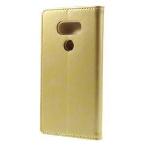 Luxury PU kožené puzdro pre mobil LG G5 - zlaté - 2