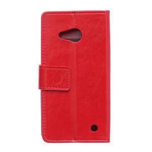 GX koženkové puzdro pre mobil Microsoft Lumia 550 - červené - 2