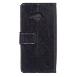 GX koženkové puzdro na mobil Microsoft Lumia 550 - čierne - 2