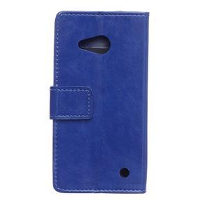 GX koženkové puzdro pre mobil Microsoft Lumia 550 - modré - 2