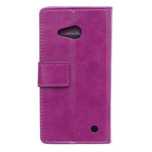 GX koženkové puzdro pre mobil Microsoft Lumia 550 -  fialové - 2