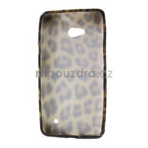 Gélový obal na Microsoft Lumia 640 - leopard - 2
