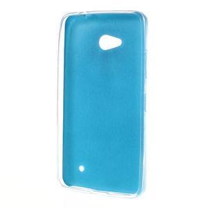 Gélový kryt s imitáciou kože pre Microsoft Lumia 640 - modrý - 2