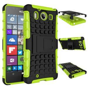 Outdoor odolný kryt pre mobil Microsoft Lumia 950 - zelený - 2