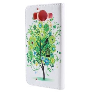 Peňaženkové puzdro pre Microsoft Lumia 950 - zelený strom - 2