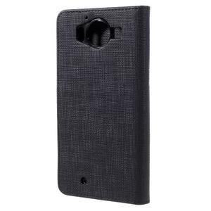 Cloth Peňaženkové puzdro pre mobil Microsoft Lumia 950 - čierne - 2