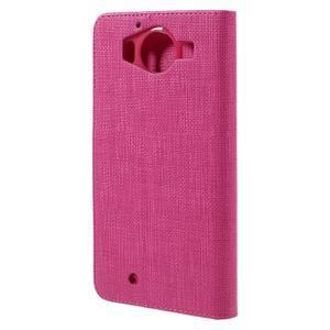 Cloth peněženkové pouzdro na mobil Microsoft Lumia 950 - rose - 2