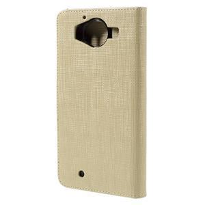 Cloth Peňaženkové puzdro pre mobil Microsoft Lumia 950 - champagne - 2