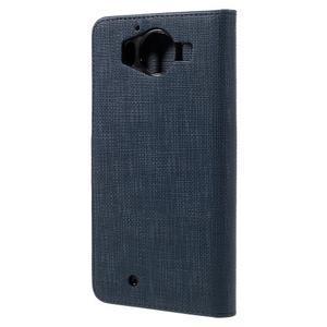 Cloth Peňaženkové puzdro pre mobil Microsoft Lumia 950 - tmavomodré - 2