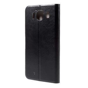 Horse PU kožené puzdro pre mobil Microsoft Lumia 950 - čierne - 2