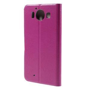 Horse PU kožené pouzdro na mobil Microsoft Lumia 950 - rose - 2
