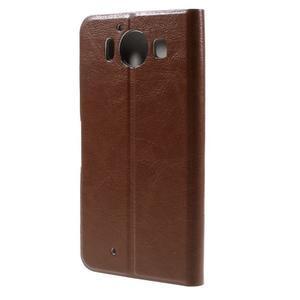 Horse PU kožené pouzdro na mobil Microsoft Lumia 950 - hnědé - 2