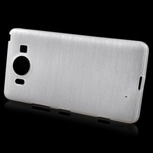 Brush hladký gelový obal na Microsoft Lumia 950 - bílý - 2