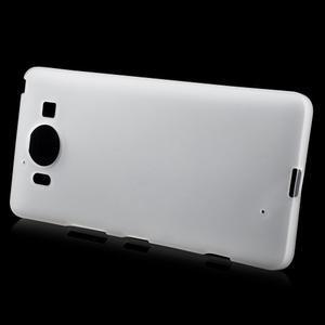 Matný gélový obal pre Microsoft Lumia 950 - biely - 2
