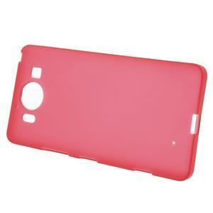 Matný gelový obal na Microsoft Lumia 950 - červený - 2