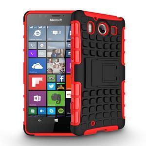 Outdoor odolný kryt na mobil Microsoft Lumia 950 - červený - 2