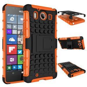 Outdoor odolný kryt pre mobil Microsoft Lumia 950 - oranžový - 2