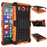 Outdoor odolný kryt pre mobil Microsoft Lumia 950 - oranžový - 2/3